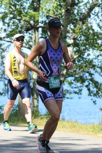 Timberman Ironman 70.3 Finisher (on the hottest day of the NH summer in 2015!)