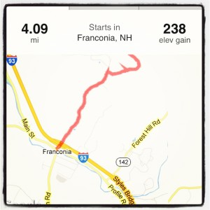 2 miles up a super steep hill that seemed to go on forever and 2 miles of speed on the hill back down