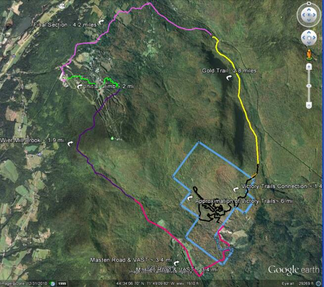 CircumBurke Challenge Trail Map