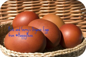 Organic eggs are a staple in our kitchen.