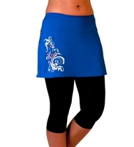 Skirt Sports Lotta Breeze Capris-Lapis with Celebration Print for Trail Running