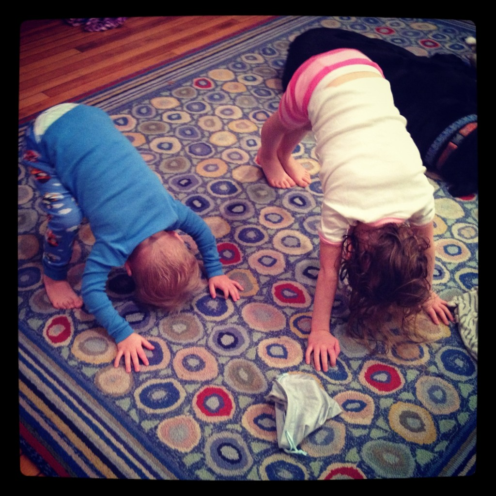 My little yogis in training