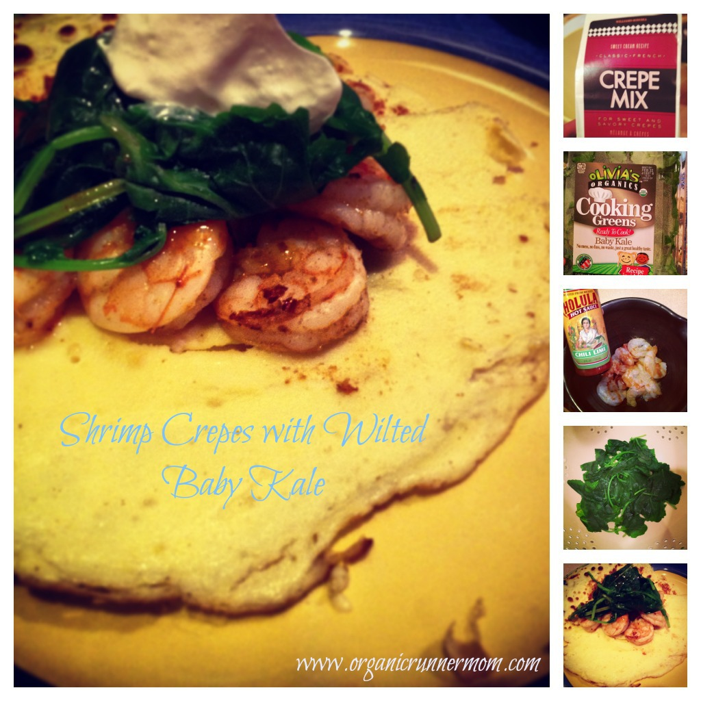 Fresh Friday Recipe. Shrimp crepes with Wilted Baby Kale