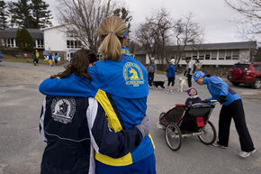 #RunForBoston at the White Mountain School (Photo from Paul Hayes)