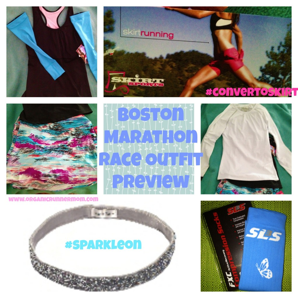 Boston Marathon Race Outfit Preview-Skirt Sports, Sparkly Soul, SLS3 Compression Socks
