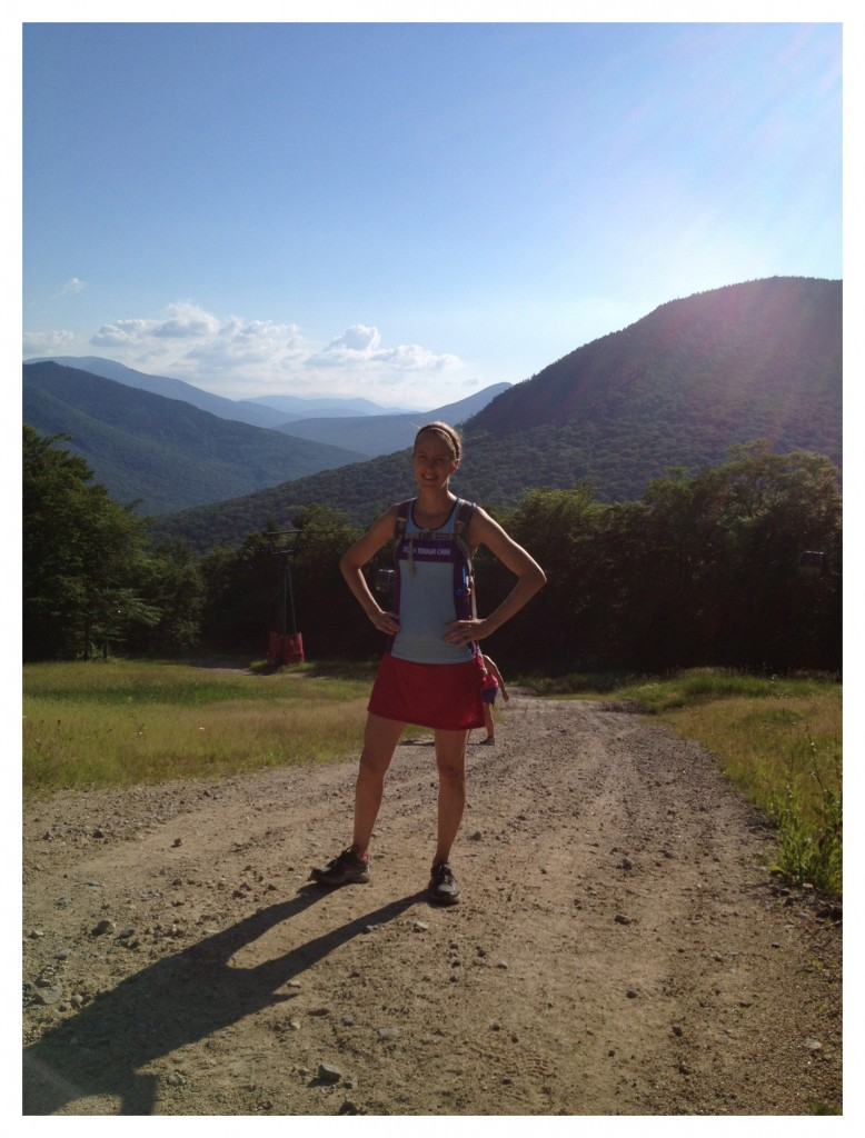 Dreaming of summer trail and mountain running. Here I am on a Loon Mountain adventure last summer.