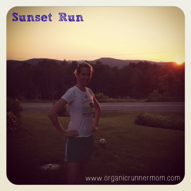 Running at sunset is one of my favorite times of day to run.