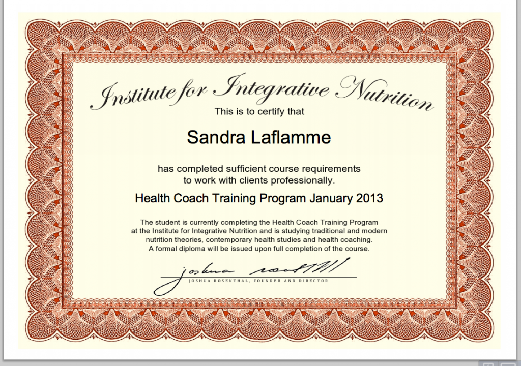 I'm halfway there! Institute of Integrative Nutrition