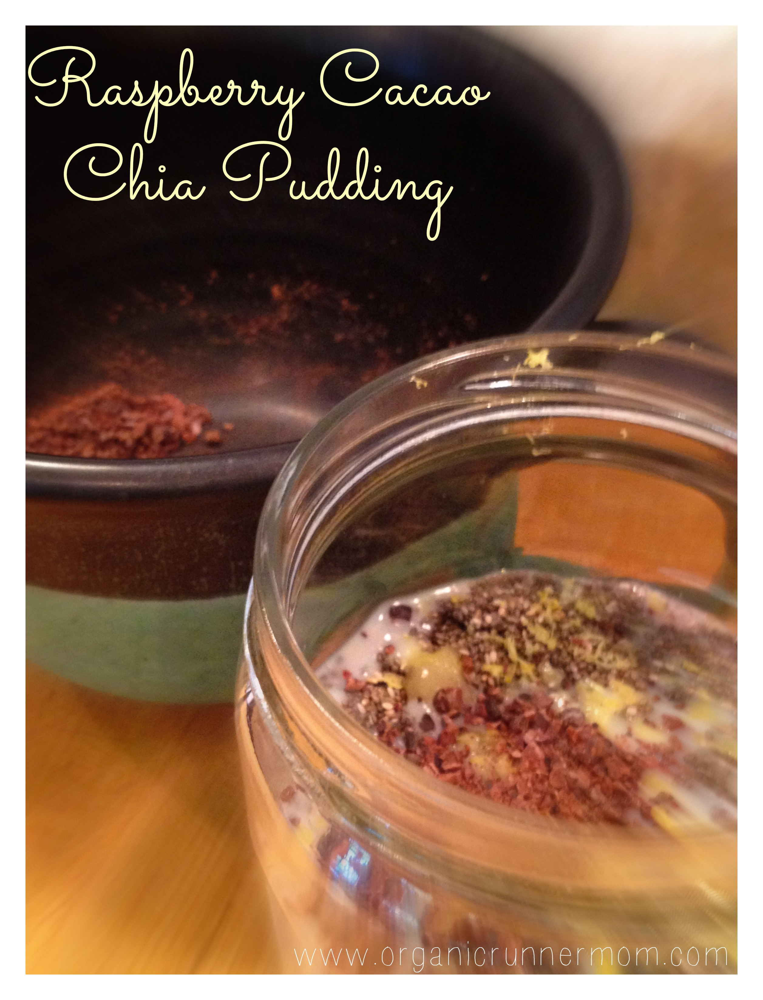 October Unprocessed Fresh Recipe: Raspberry Cacao Chia Pudding