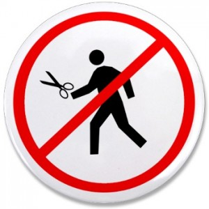 No running with scissors! Now I am sick!