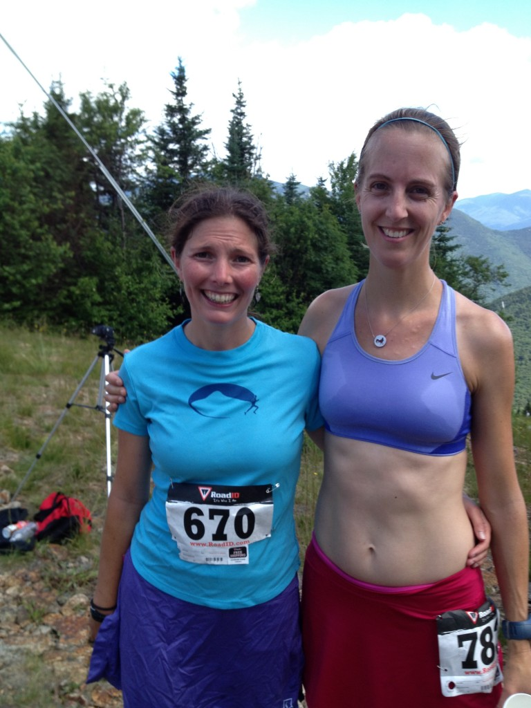 Hot Half Hug with my amazing friend B after the Loon Mountain Race