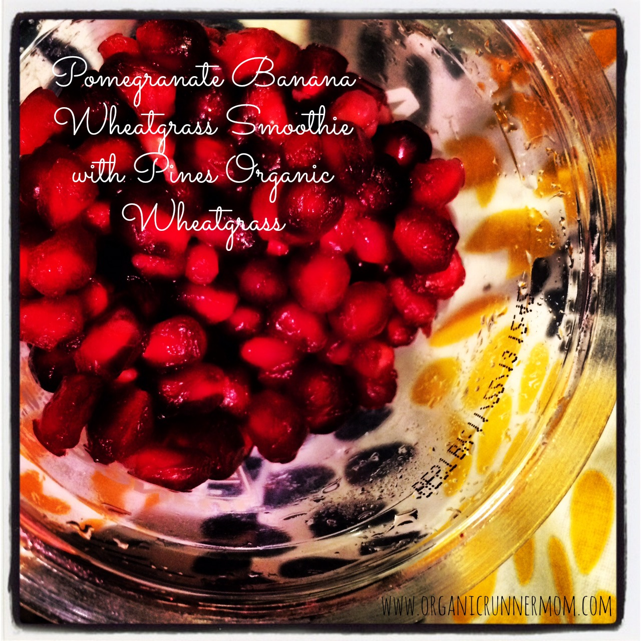 #Sponsored Fresh Recipe: Pomegranate Banana Wheatgrass Smoothie with Pines Organic Wheatgrass