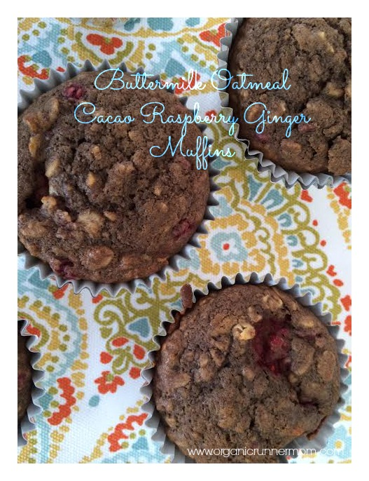 Fresh Recipe: Oatmeal Buttermilk Cacao Raspberry Ginger Muffins