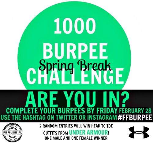 #FF BURPEE 1000 Burpees Challenge from Fitfluential and Under Armour