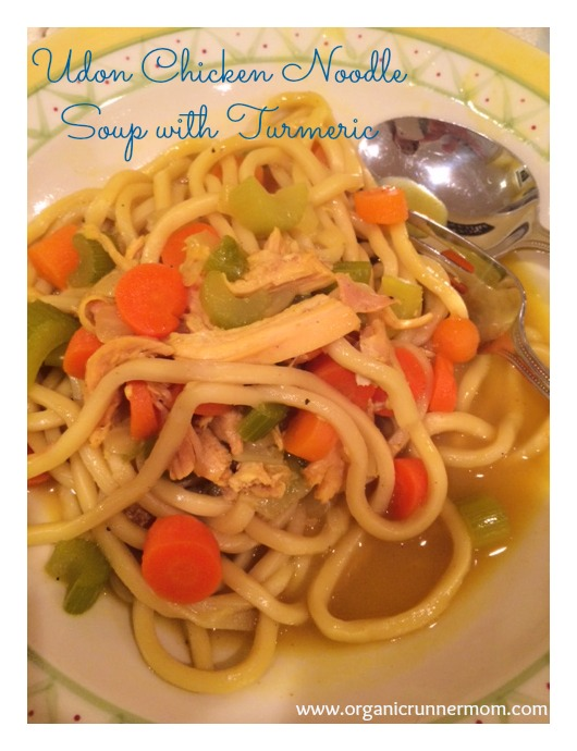 Udon Chicken Noodle Soup with Turmeric