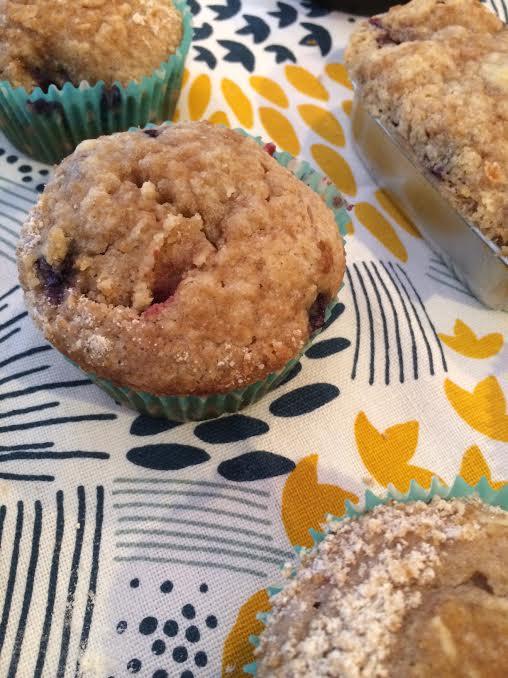 Fresh Recipe: Blueberry & Blackberry Streusel Muffins