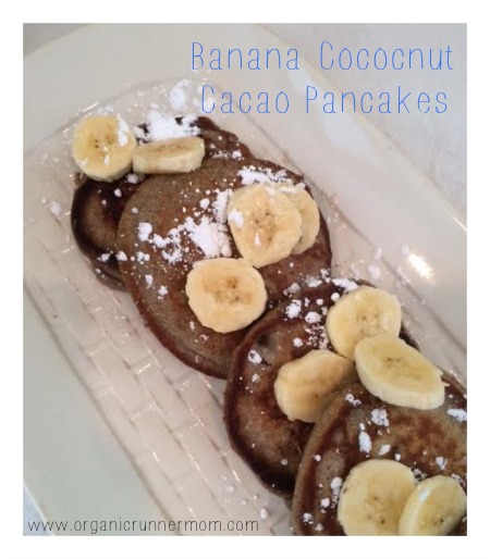 Fresh Recipe: Banana Coconut Cacao Pancakes with Stonyfield Yogurt