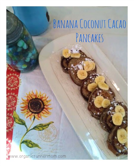 Banana Coconut Cacao Pancakes