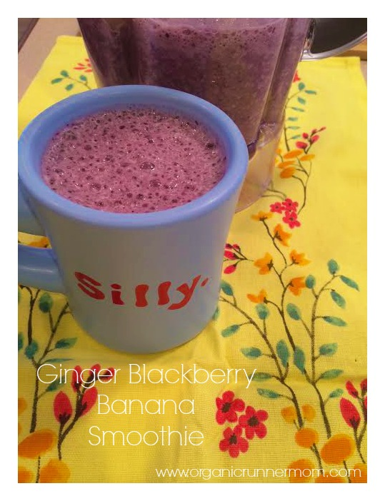 Ginger Blackberry Banana Smoothie Recipe