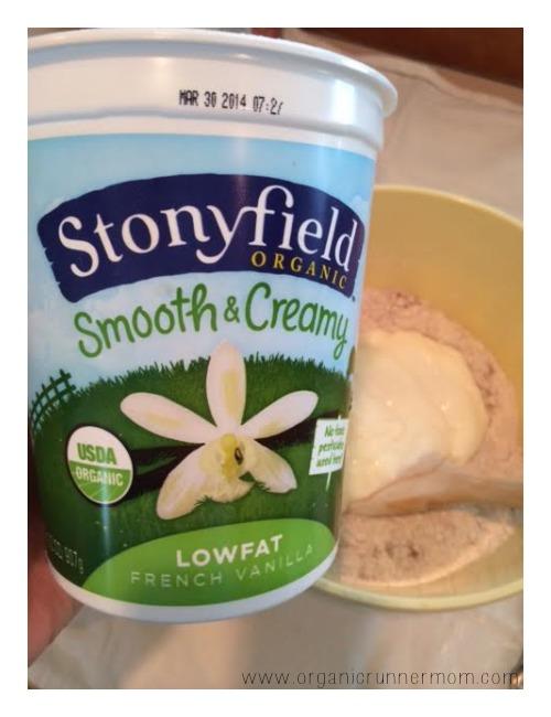 Stonyfield Organic French Vanilla Yogurt makes an excellent pancake ingredient!