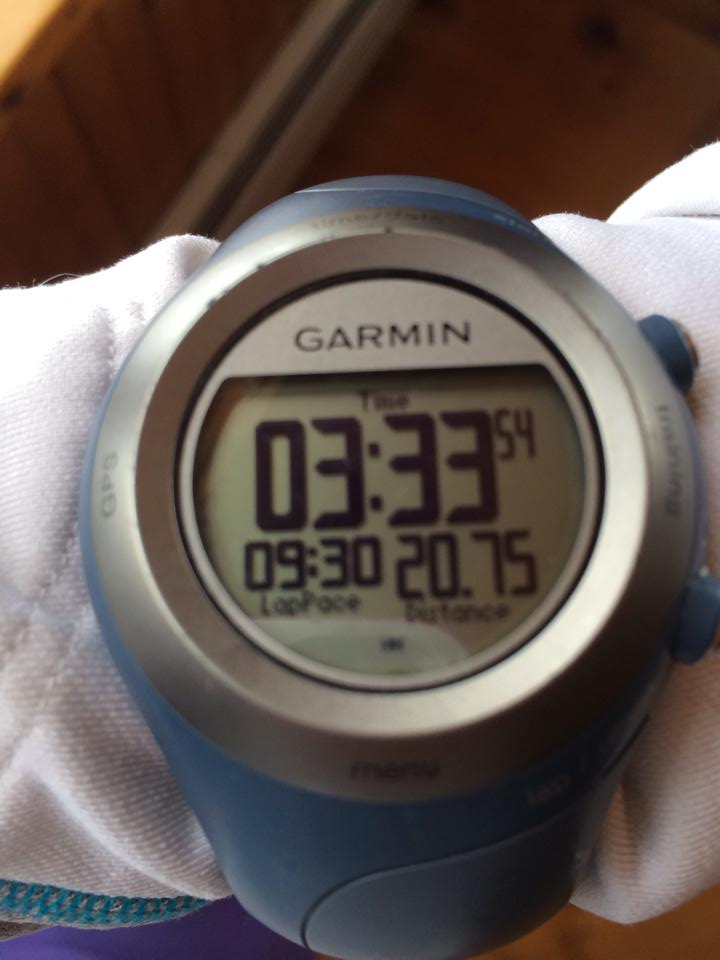 3:33 for 21 hard miles. Yes!