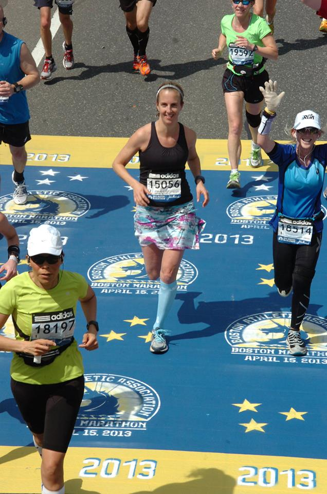 Here I am last year crossing the half marathon point at the 2013 Boston Marathon