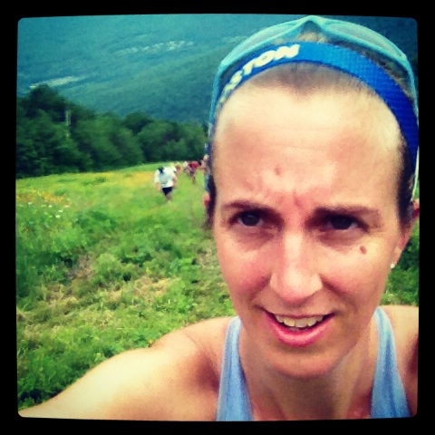 Struggling through the Loon Mountain Race Last Summer