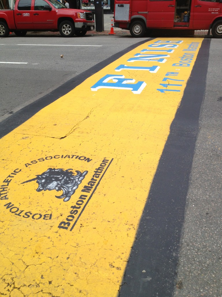 Finish Line at the 2013 Boston Marathon
