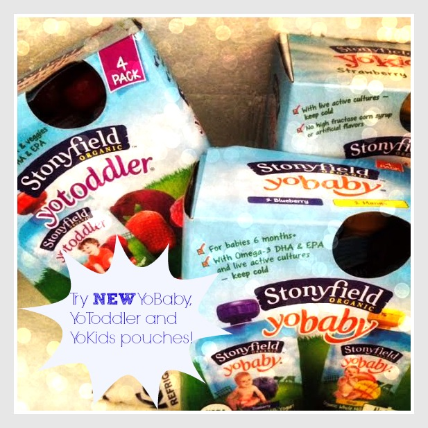 Try NEW Stonyfield YoBaby, YoToddler and YoKids pouches!