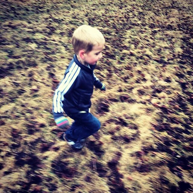 The littlest runner!