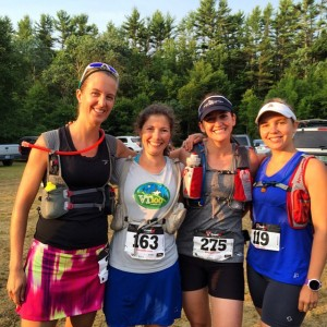Strong Women Ready to hit the trail at the Bear Brook Trail Marathon. #runlikeagirl