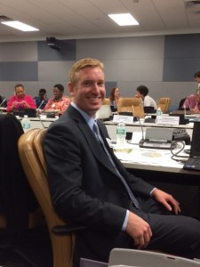 Organic Runner Dad getting ready to talk about family farming at the U.N.