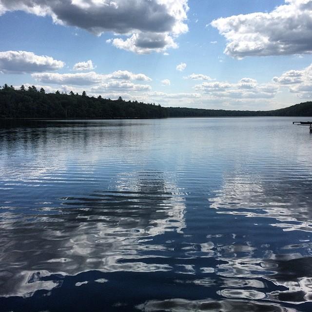 Like glass. Silver Lake.