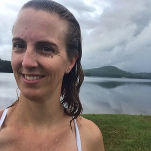 Open water swimming at the Comerford Dam on the Connecticut River