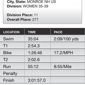 Age Group Results for the Lobsterman Triathlon