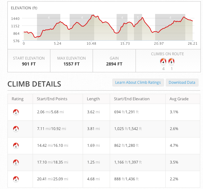 Take a look at the elevation profile of the Kingdom Marathon.