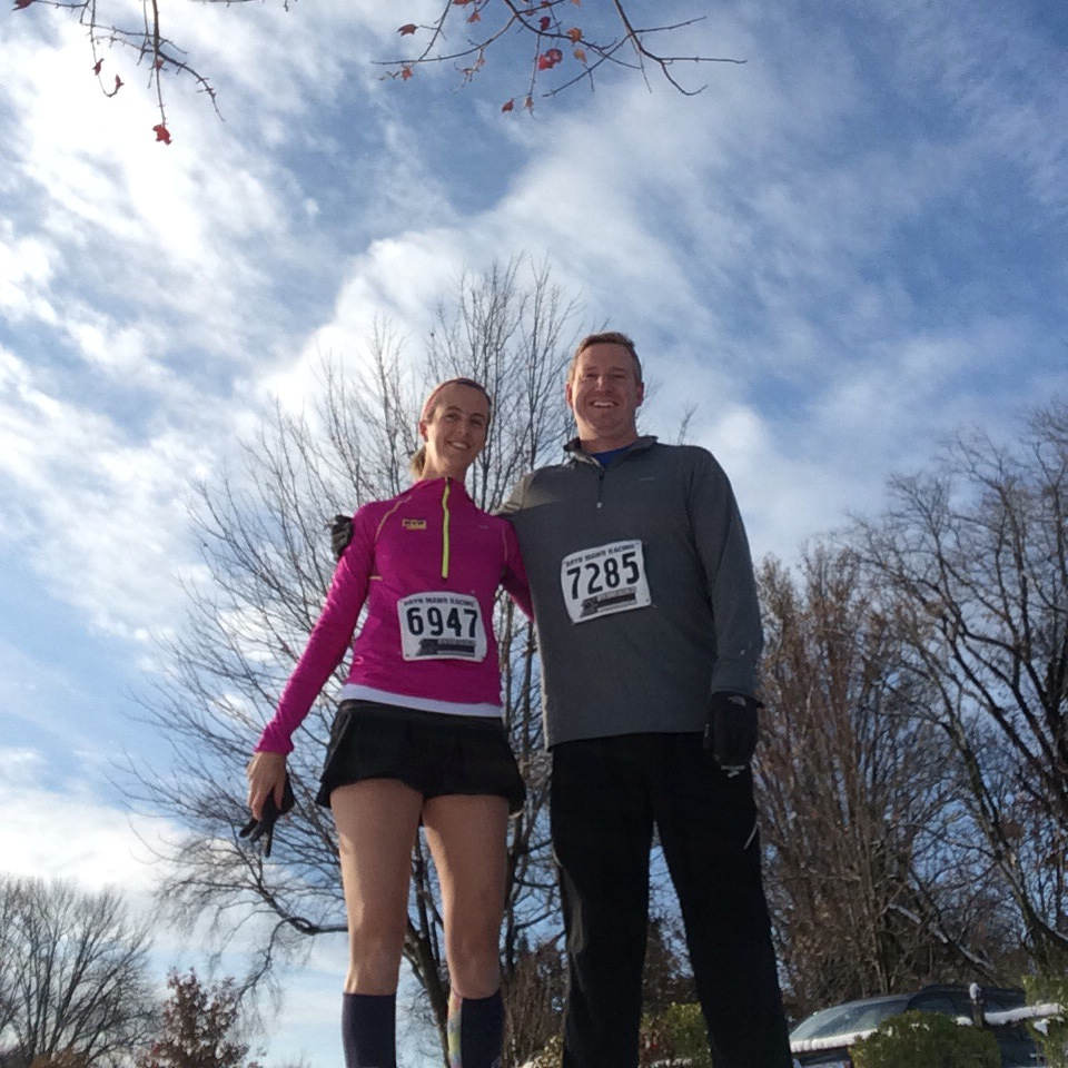Look! Organic Runner Dad joined me for the Turkey Trot!