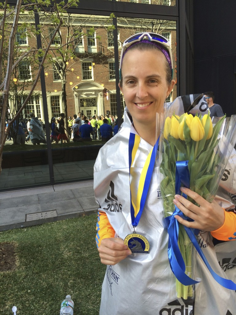 Finisher of the 2014 Boston Marathon. Organic Runner Mom