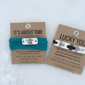 Momentum Jewelry Wrap Bracelets and Footnotes. Organic Runner Mom