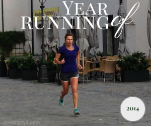Miss Zippy Year of Running 2014