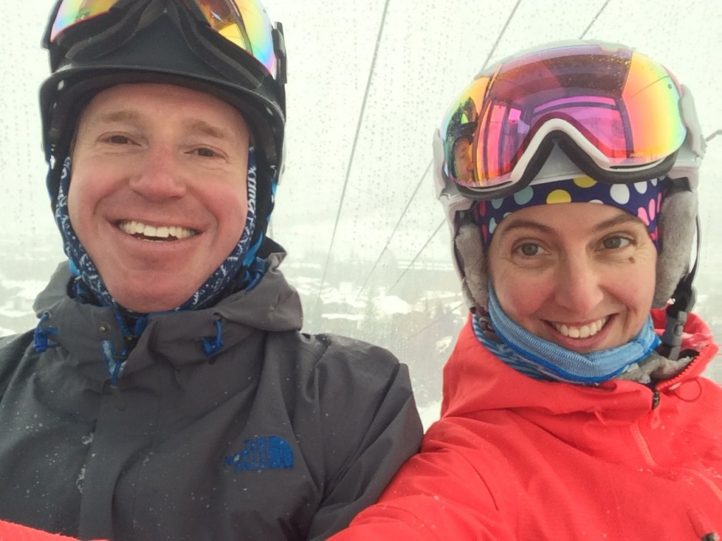 Like two kids in a candy story. Let's hit the slopes!