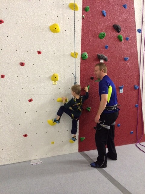 Finding success in trying at the North Country Climbing Center.