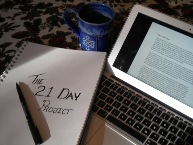 The 21 Day Project from Rooted by Stacey. A daily practice. Writing for 21 Days . . . To Find out more click here. | Organic Runner Mom