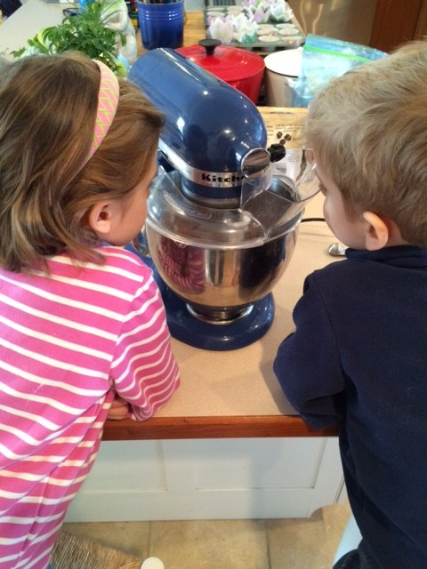 Experimenting in the kitchen with the kids.