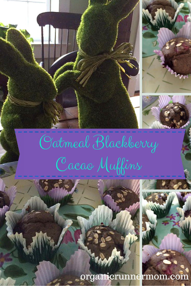 Check out my latest muffin recipe– Oatmeal Blackberry Cacao Muffins | Organic Runner Mom