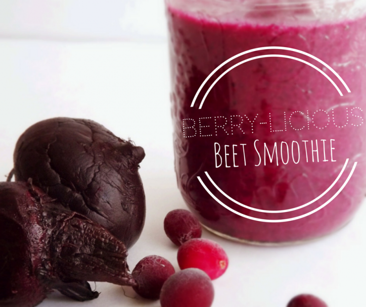 Berry-licious Beet Smoothie Recipe from the Organized Pantry