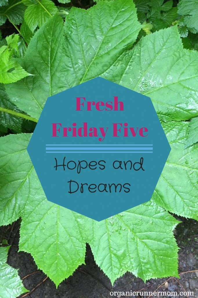 Fresh Friday Five. Hopes and Dreams |Organic Runner Mom
