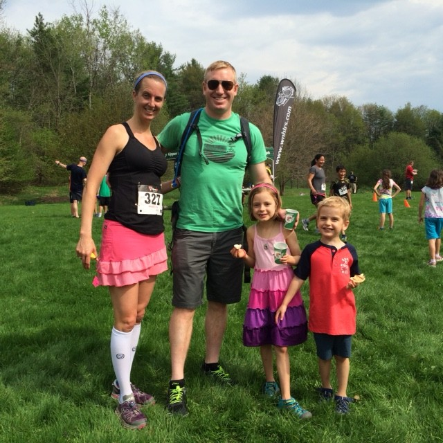 The Dirty 5K with my little family.