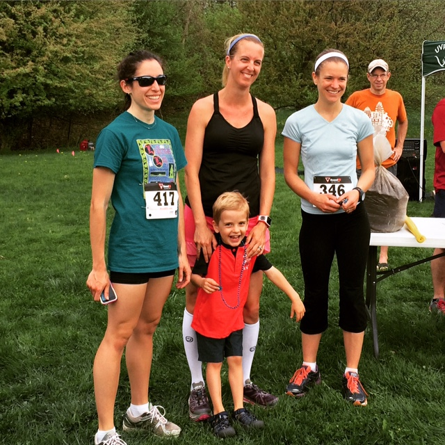 All smiles after my race. First place in my age group and Mother's Day Love at the Dirty 5K