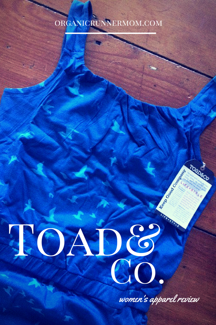 Toad & Co. Women's Apparel Review | Organic Runner Mom